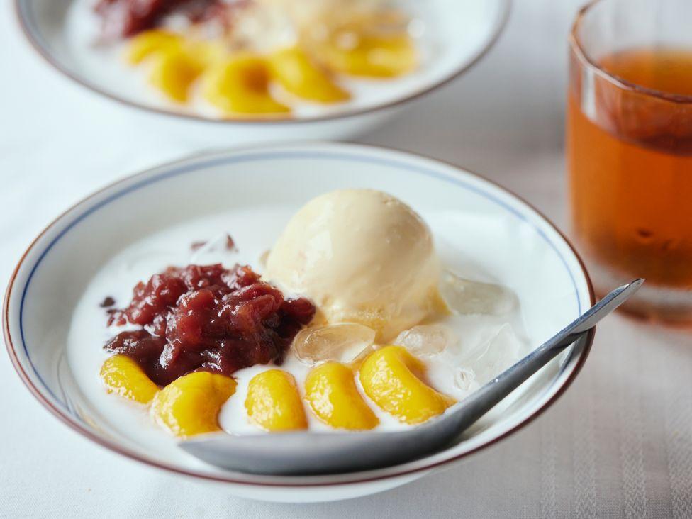 #10 生姜ほうじ茶×ココナッツミルクとかぼちゃ白玉のぜんざい
